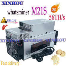 New BTC BCH Miner WhatsMiner M21S 56T With PSU Asic miner better than M3 M20s Antminer