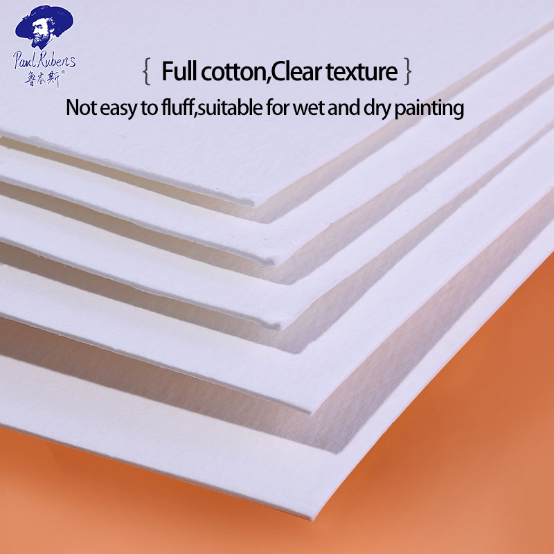 Official Paul Rubens 100% Cotton Watercolor Paper Block 300GSM Rag Artist Quality Acid Free Cold Pressed Paper Pad Gift
