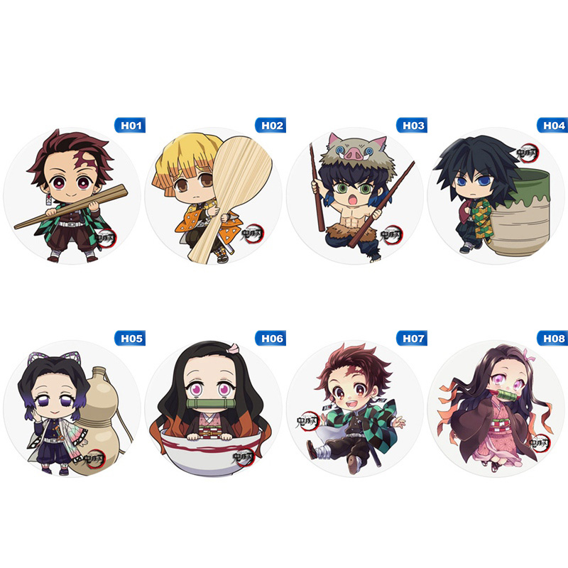 Anime Badge Demon Slayer: Kimetsu no Yaiba Kamado Tanjirou Pin Button Brooch Badge