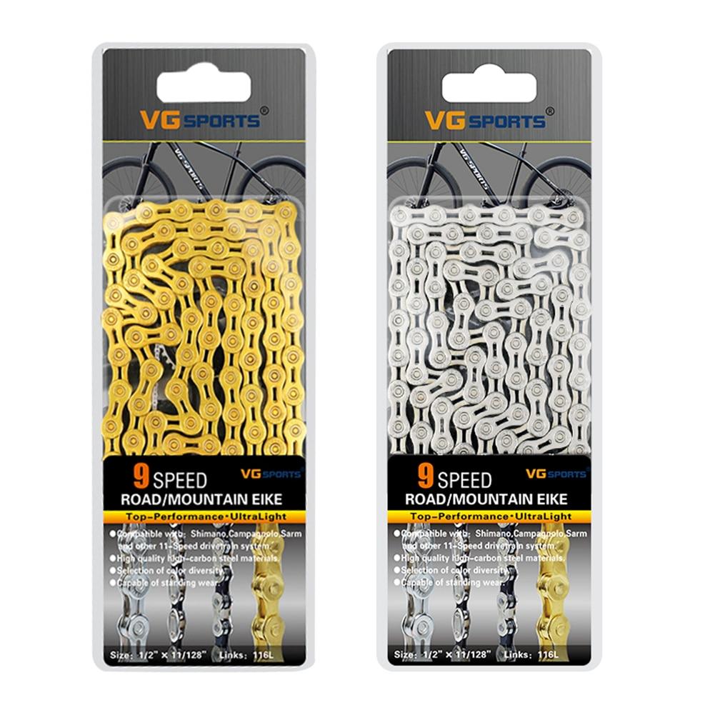 "ZRACE 9S Chain MTB Mountain Road Bike Chain 1//2/"" x 11//128/"" 116L 9 Speed Bicycle"