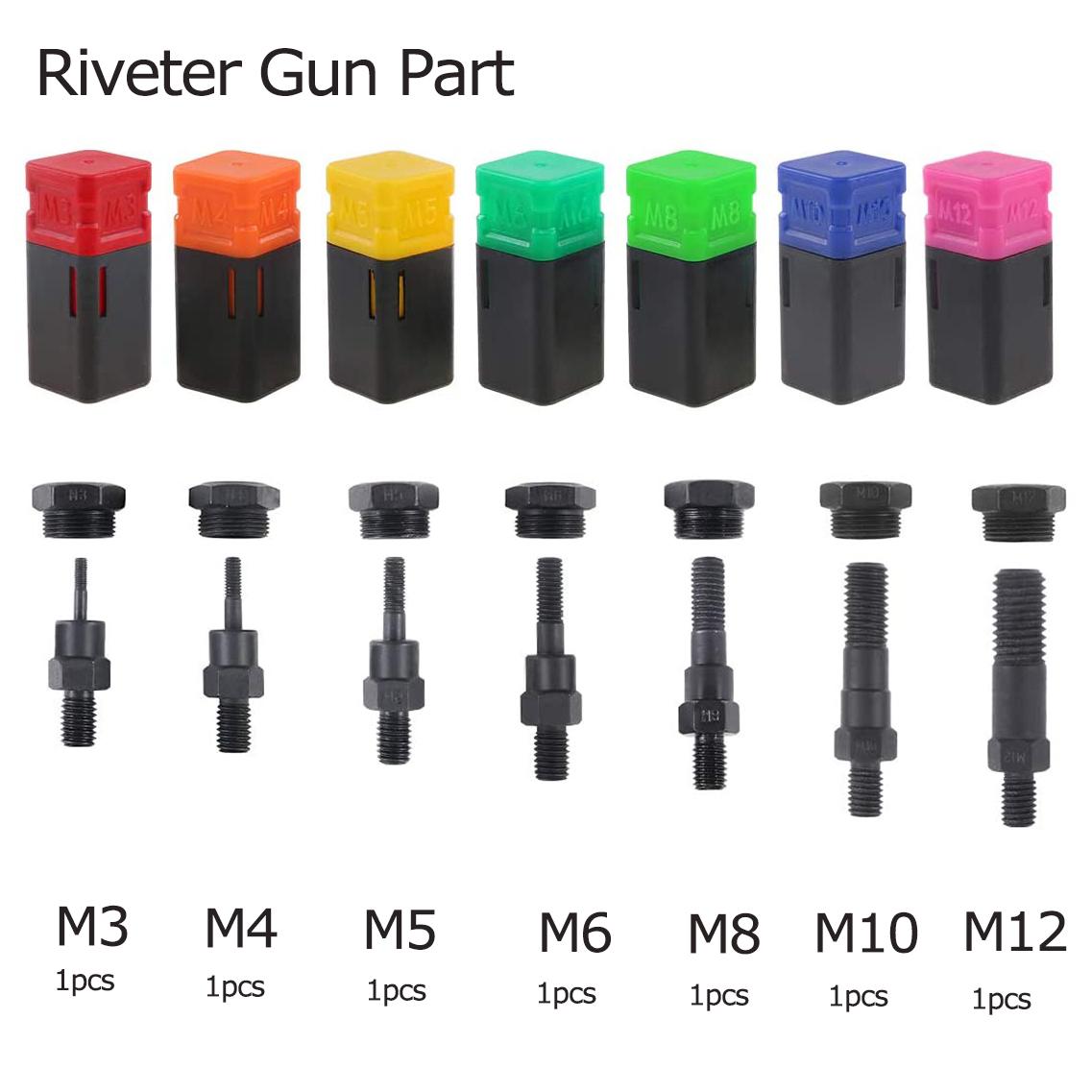 Rivet Nut M3-M12  Threaded Mandrel Replacement Riveter Accessory Tool Part