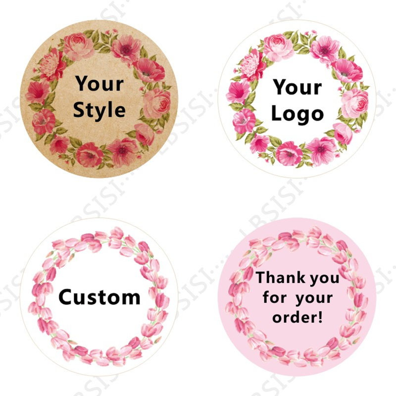 LBSISI Life 1000pcs Custom Stickers Print Logo Personalized Waterproof Paper Stickers Labels Wedding Christmas Decoration