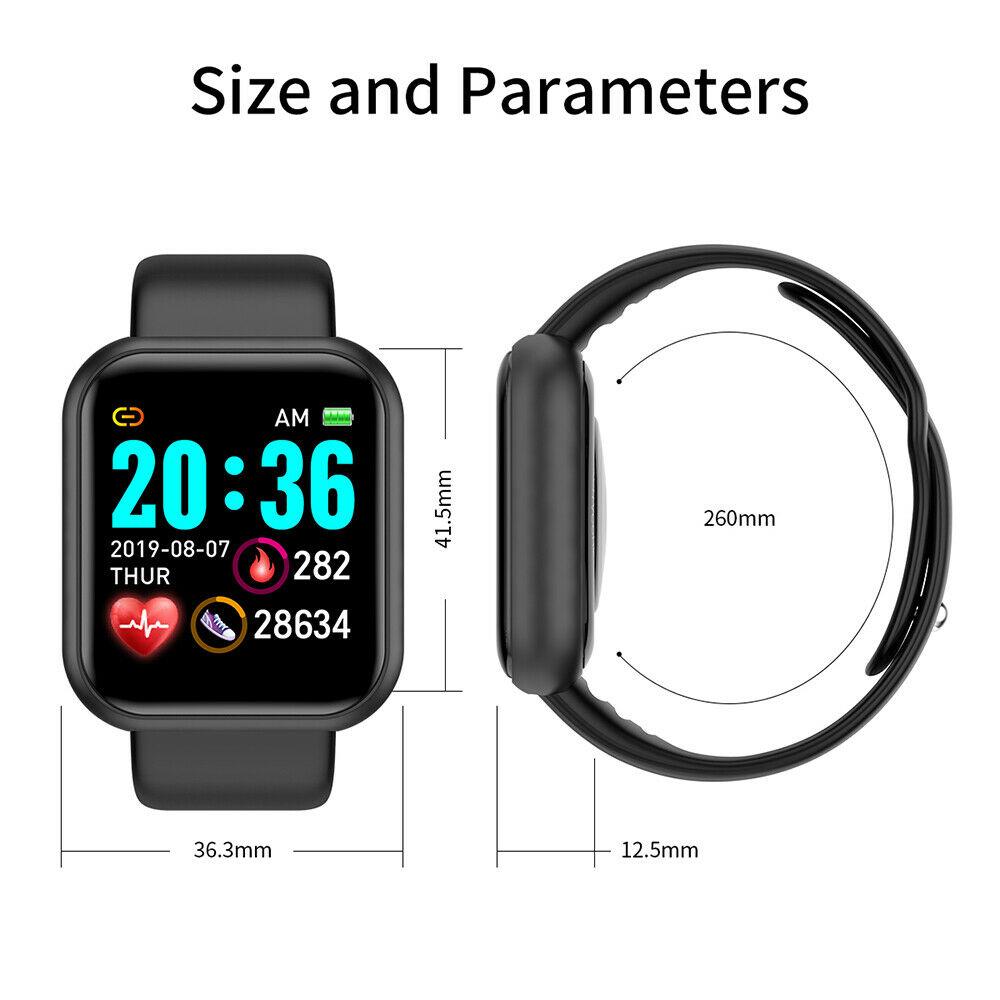 Digital Watch - Smart Watch Waterproof Smartwatch For Android IOS Smart Watch Kids Men Women Heart Rate Monitor Blood Pressure Watch