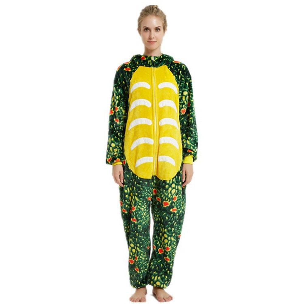 Dinosaur Unisex Adult OnePiece Pajamas Onesies Thanksgiving Cartoon Cosplay Animal Onesies Sleepwear Christmas Halloween Costume