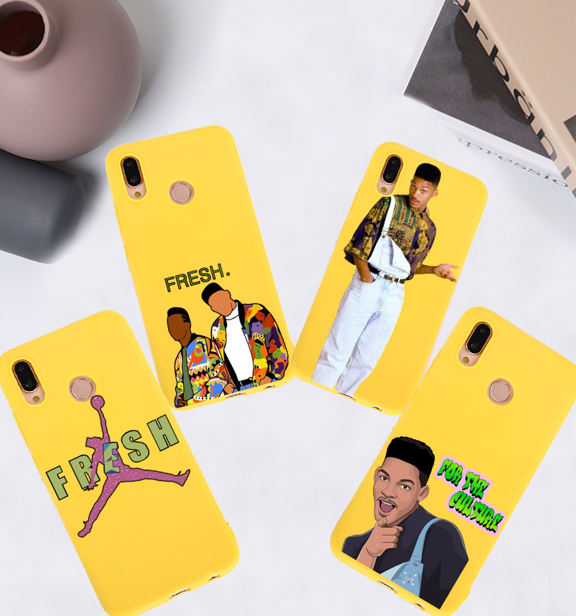 The fresh prince of bel air Candy Color Case for Huawei P10 P20 P30 MATE 10 20 honor 8 9 10 Smart Soft Silicone Case