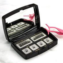 Magnetic Eyelashes Extension-Tweezers Mink Natural Individual Acrylic-Box with Maquiagem