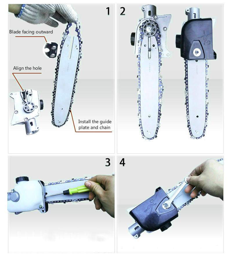 Accessoire tronçonneuse pour débroussailleuse