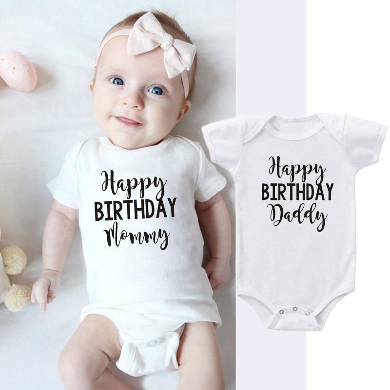 Happy Birthday Mummy I love you Baby Grow Vest Body Suit Cute gift idea Romper
