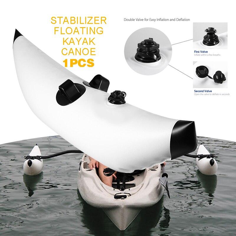 1pc Portable PVC Opblaasbare Outrigger Kajak Accessoires Kano Boot Vissen Float Stabilizer for Kayak Canoe Boat Paddle Fishing