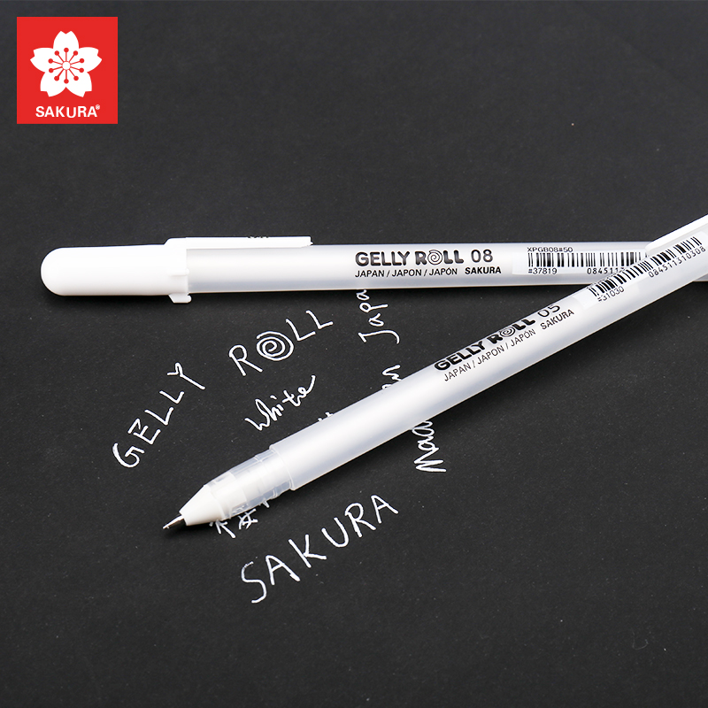 Sakura 3pcs Gelly Roll Classic Highlight Pen Gel Ink Pens Bright White Pen Highlight Markers Color Highlighting