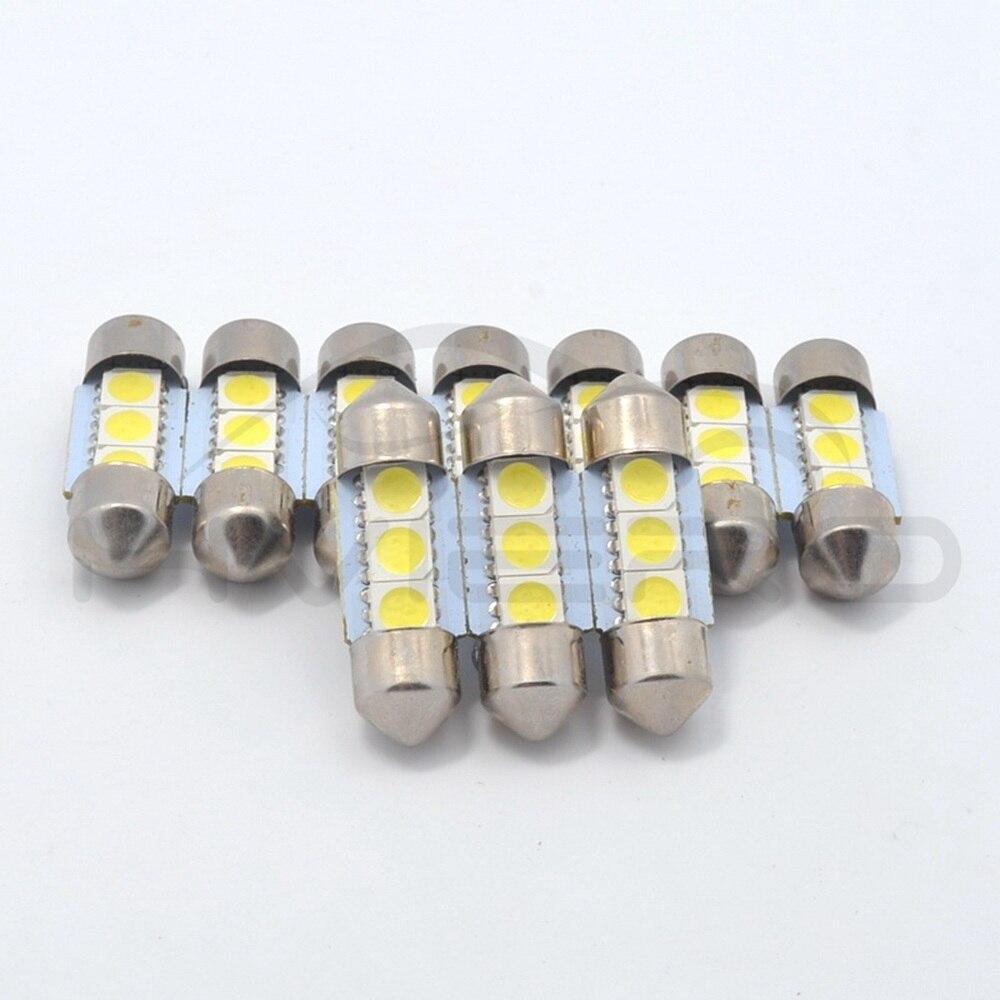 Hviero White C5W C10W 5050 SMD 3Led 36mm 39mm 41mm DC 12V Car LED Festoon Dome Light Door light Reading Lamp Tail Bulb backup Led