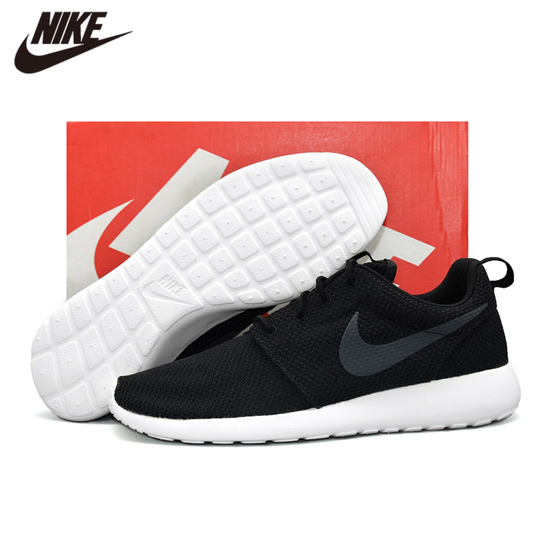 Original NIKE ROSHE RUN Men's Running Outdoor Sports Shoes Black 511881-010 title=