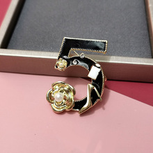Brooches Jewelry Skirt Enamel Number Female Fashion Pin-Coat Corsage Simple