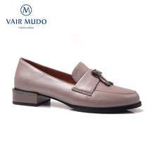 Thick Heel Pumps-Shoes Genuine-Leather High-Quality Women VAIR MUDO Casual Mules Spring
