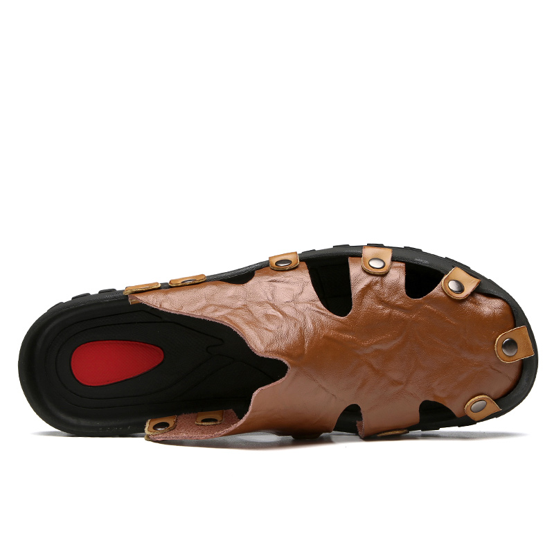 High Quality Men Sandals Leather Sandals Summer Casual Shoes Men/'s Roman Beach Sandals Sandalias De Hombre De Cuero