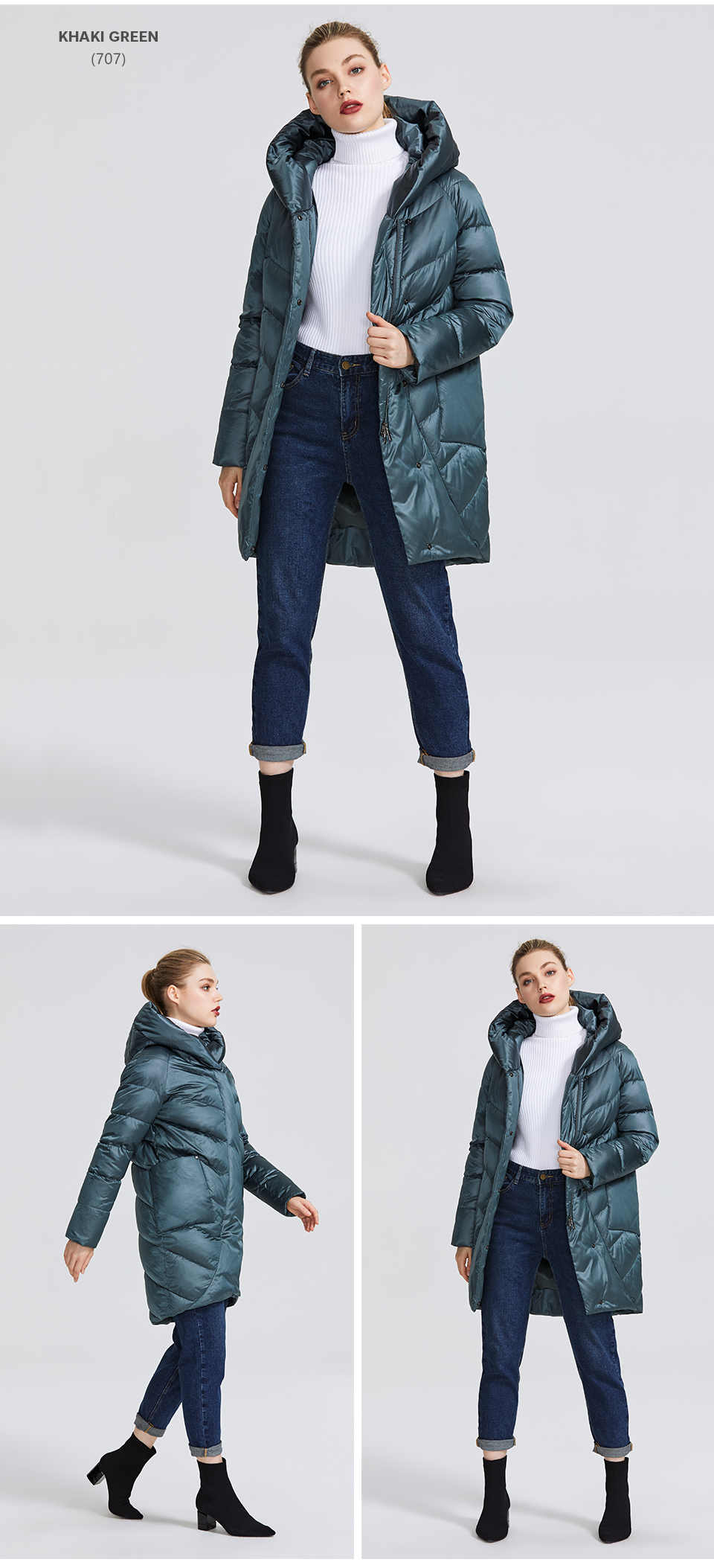 MIEGOFCE 19 Winter Jacket Women's Collection Warm Jacket With Unusual Design and Colors Winter Coats Gives Charm and Elegance 10