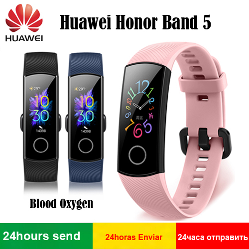 2019 Original Huawei Honor Band 5 Blood Oxygen AMOLED Detect Swim Posture Heart Rate Sleep Snap Huawei Smart Bracelet