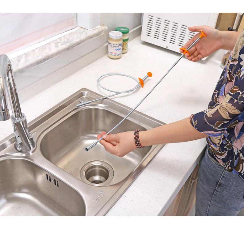 Gancho de limpieza del fregadero de la cocina Dragado de alcantarillado Tubo 1PC
