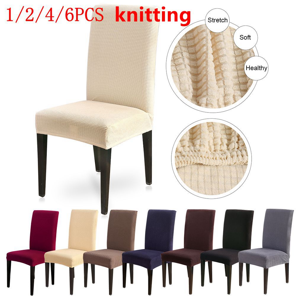 1//2//4 PCS Chair Covers Removable Stretch Slipcovers Dining Room Spandex Fabric