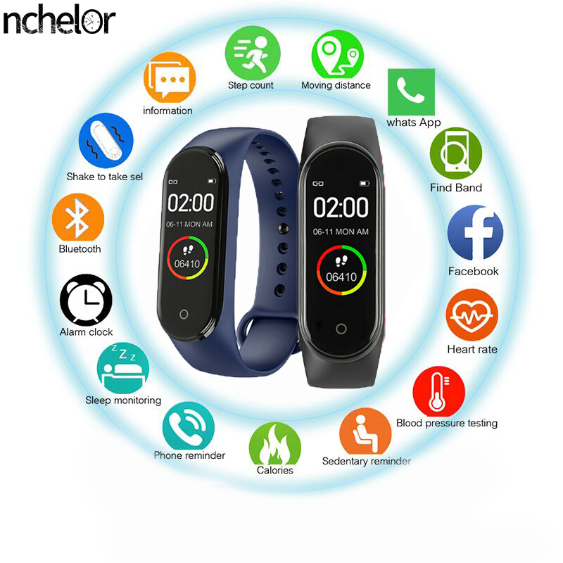 Belt Watch-Monitor Label Blood-Pressure-Heart-Rate-Monitor Fitness Sports Waterproof title=