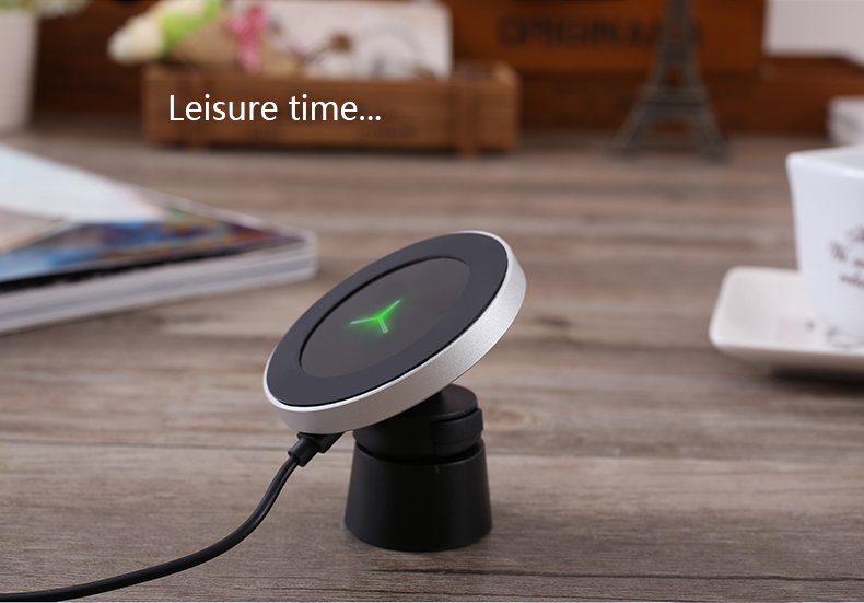 360 Degree Rotation Car Phone Wireless Charger For Samsung S8 S8 Plus S7 Edge Dashboard Wireless Charger Stands Air Vent Holder (14)