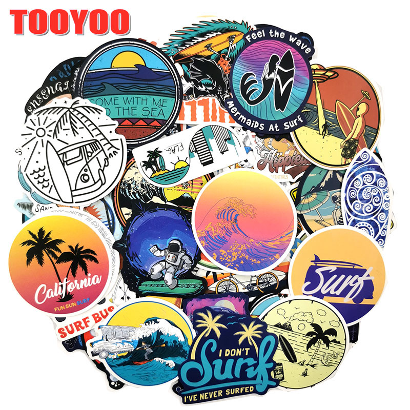 100Pcs/set Cartoon waterproof surfing Graffiti Stickers For Guitar DIY TOY Bicycle Car Skateboard Snowboard Laptop Luggage