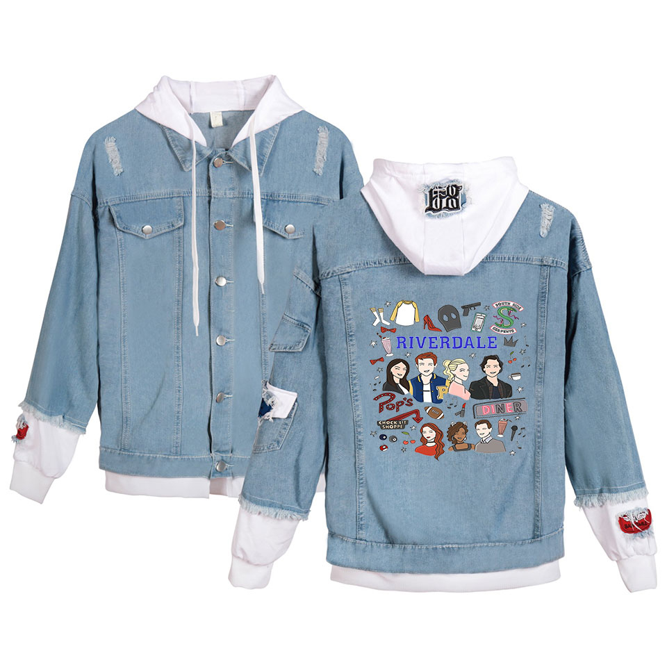 New River Valley Town hoodie jeans Coat Men Women Fashion denim Jacket spring and autumn 2019