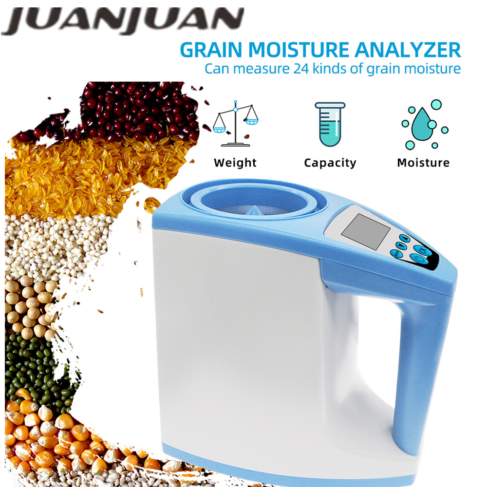 LDS-1G Grain Moisture Tester High Precision Automatic Digital Corn Rice Wheat Moisture Humidity Gauge Meter Tester Detector