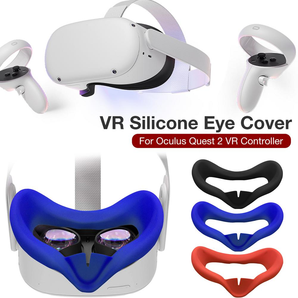 Standard Eye Pad Orzero Silicone Face Cover Skin Compatible for Oculus Quest 2 Sweatproof Light Blocking Grayish White Washable for Virtual Reality Headset 1 Pack