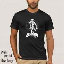 Muay Thai Skull Fighter T Shirt Cotton Custom Short Sleeve Thailand Fighting For Men Popular Lovers 3XL Mens T-Shirt Shirt(China)