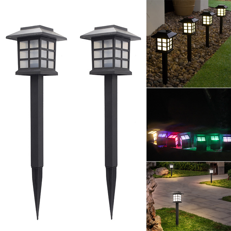 2pcs Solar Lantern Lawn Lamps Outdoor Garden Solar Light Waterproof Pathway Landscape Retro Solar Underground Light