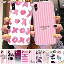 Чехол для телефона TOPLBPCS Pink Love PINK Flower для iPhone 8 7 6 6S Plus X 5S SE 2020 XR 11 pro XS MAX(Китай)