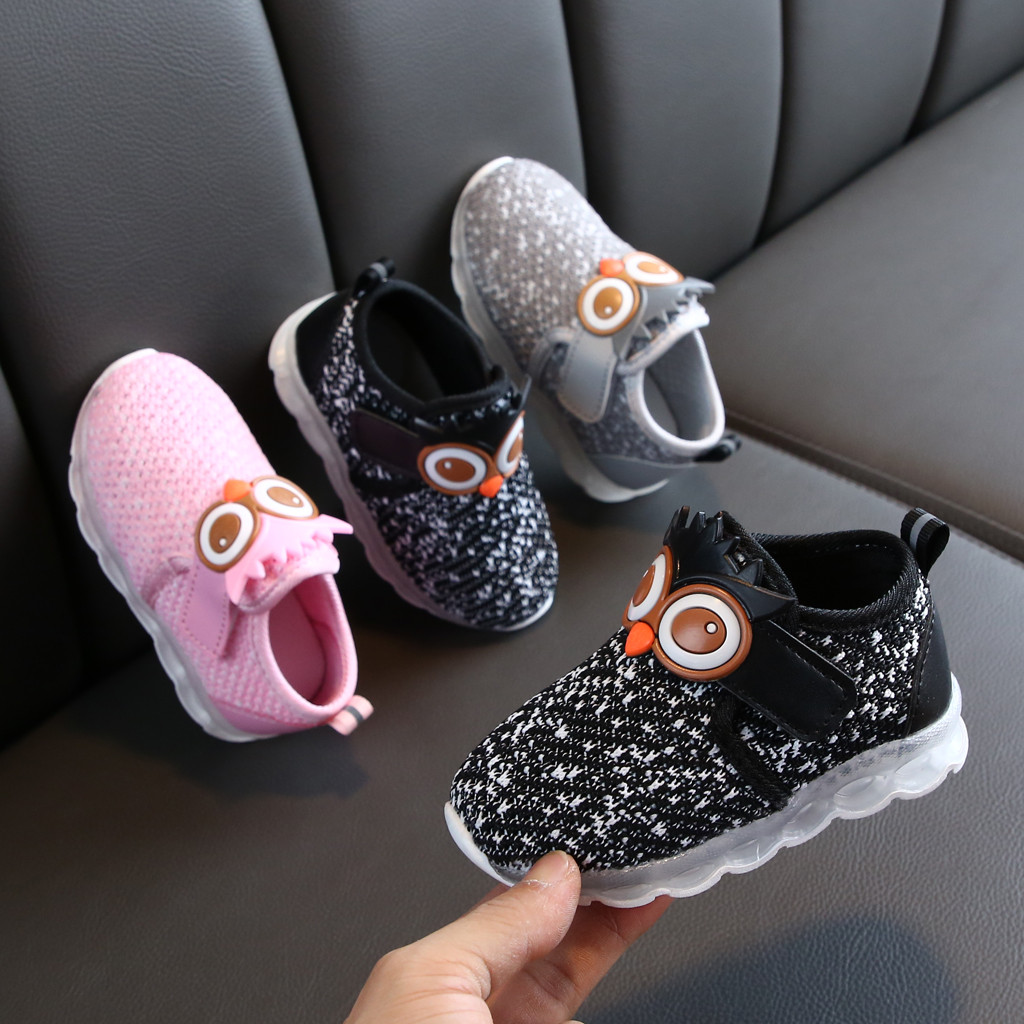 Apparel - Children's Luminous Shoes Infant Toddler Baby Girls Boys Breathable Mesh Cute Cartoon LED Luminous Sport Shoes Sneakers 6M-4Y