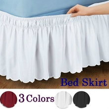Bed Skirt Bedspread Bed-Shirts Ruffled Queen Elastic Hotel Fit Pastoral-Style