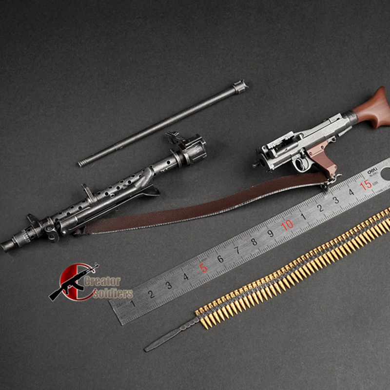 1/6 Scale MG34 MG42 MP44 98k Automatic Rifle Assembling Gun Model Assembly Plastic  WWII Weapon for 1/6 Soldier Military Toys