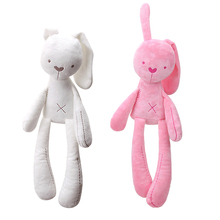 Animal-Pillow Doll Plush-Toys Stuffed Comfort Home-Decoration Pink Soft-Bunny Baby Rabbit