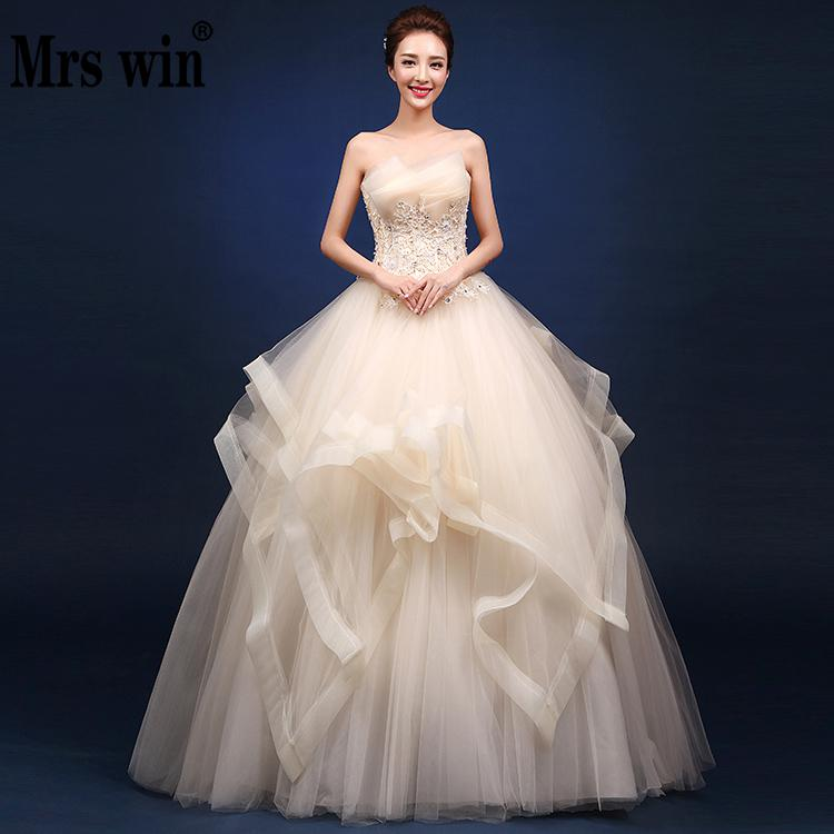 Wedding Dresses 2021 The Elegant Strapless Lace Up Ball Gown Princess Vintage Wedding Gown Custom Size 4 Colors Wedding Dress