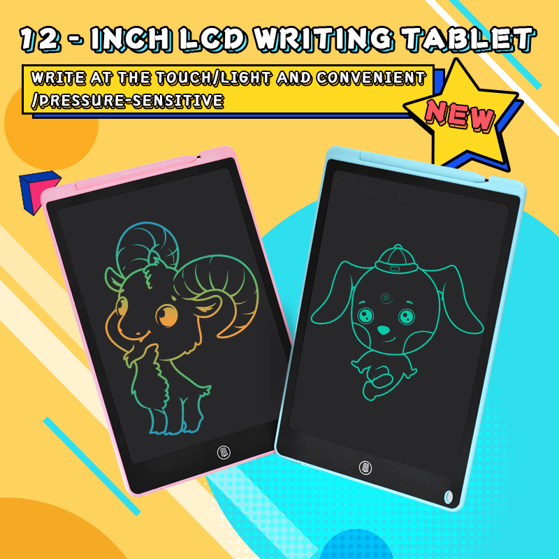 12 Inch LCD Writing Tablet Electronic Drawing Doodle Board Digital Colorful Handwriting Pad Gift for Kids and Adult Protect Eyes 1