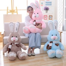 Pillow Doll Plush-Toy Easter Bunny Christmas-Gift Rabbit Sleeping-Lover Scarf Present