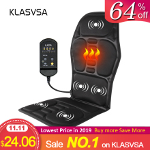 KLASVSA Cushion Vibrator Seat-Pad Chair Relax Mat Back-Massager Lumbar-Waist Pain-Relief