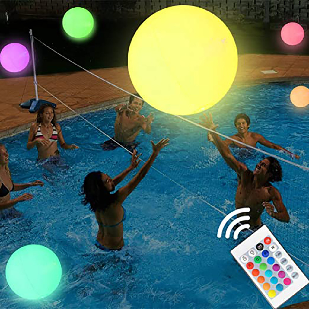 Person - Rechargeable LED Swimming Pool Floating Ball Lamp Waterproof Outdoor Home Wedding Garden KTV Bar Holiday Party Decoration