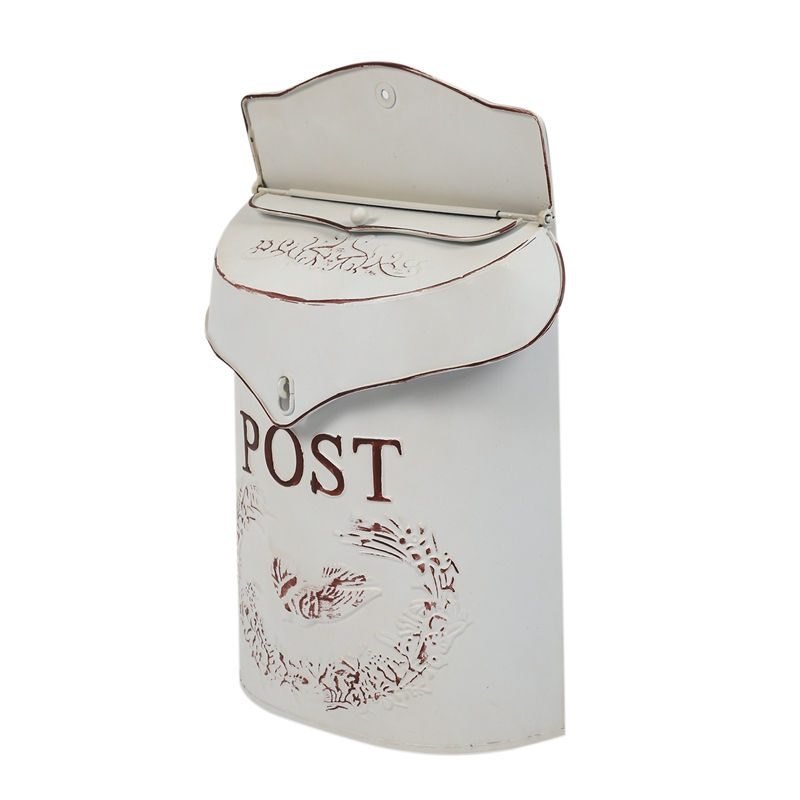 ACAMPTAR Casella Postale Post Shabby Blu Bird Post Box Vintage Country House Bianca