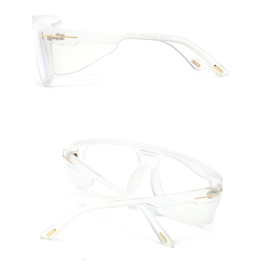 46565 Square Wide Legs Goggle Sunglasses Men Women Fashion