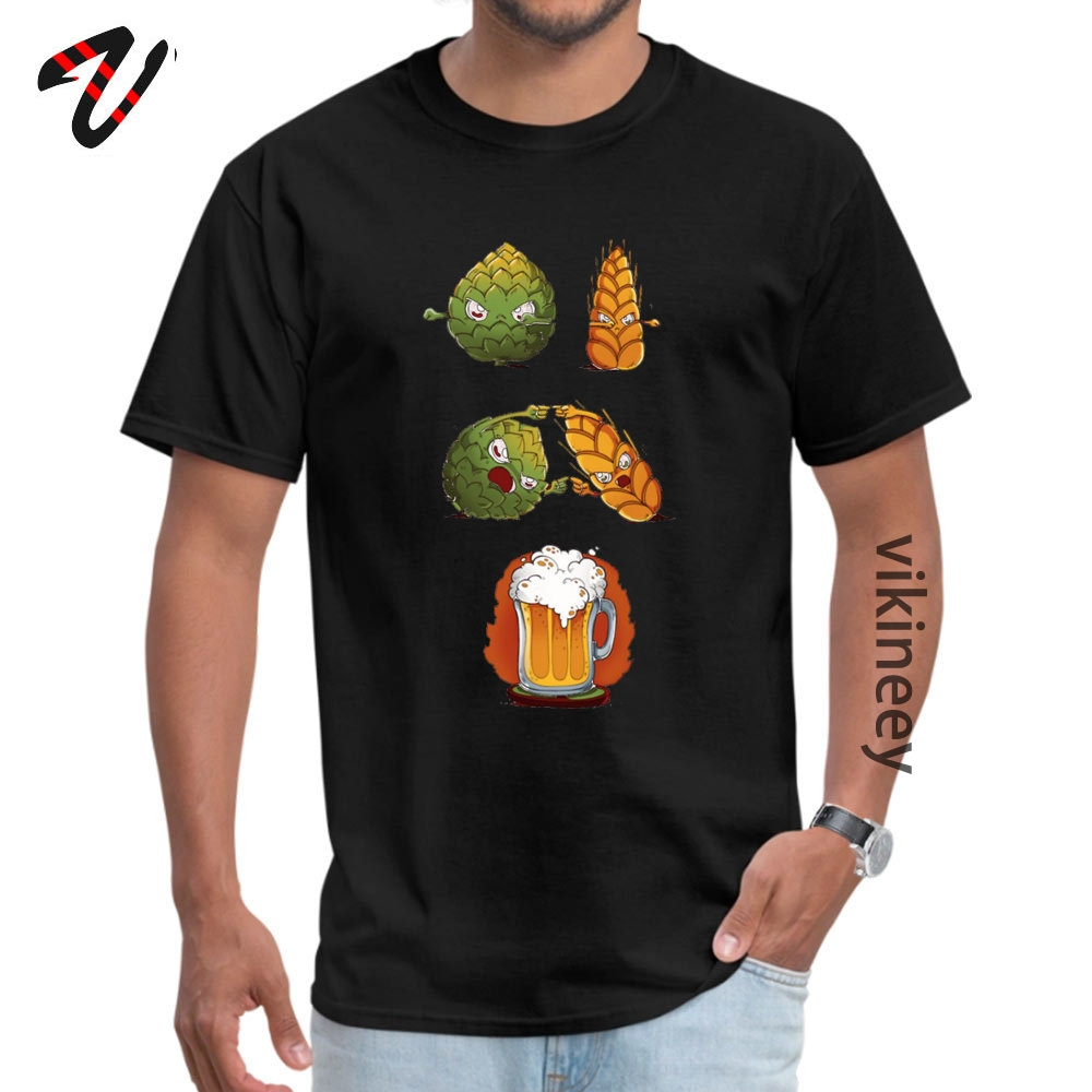 Cotton Youth Short Sleeve BEERFUSION T-Shirt comfortable Tops Shirt Company Leisure Round Neck Tops Tees Drop Shipping BEER-FUSION0705 black