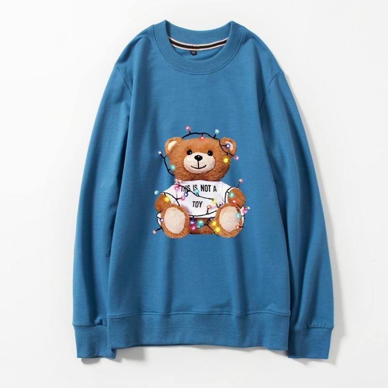 Ladys Mario Jumper White Crewneck Sweatshirt
