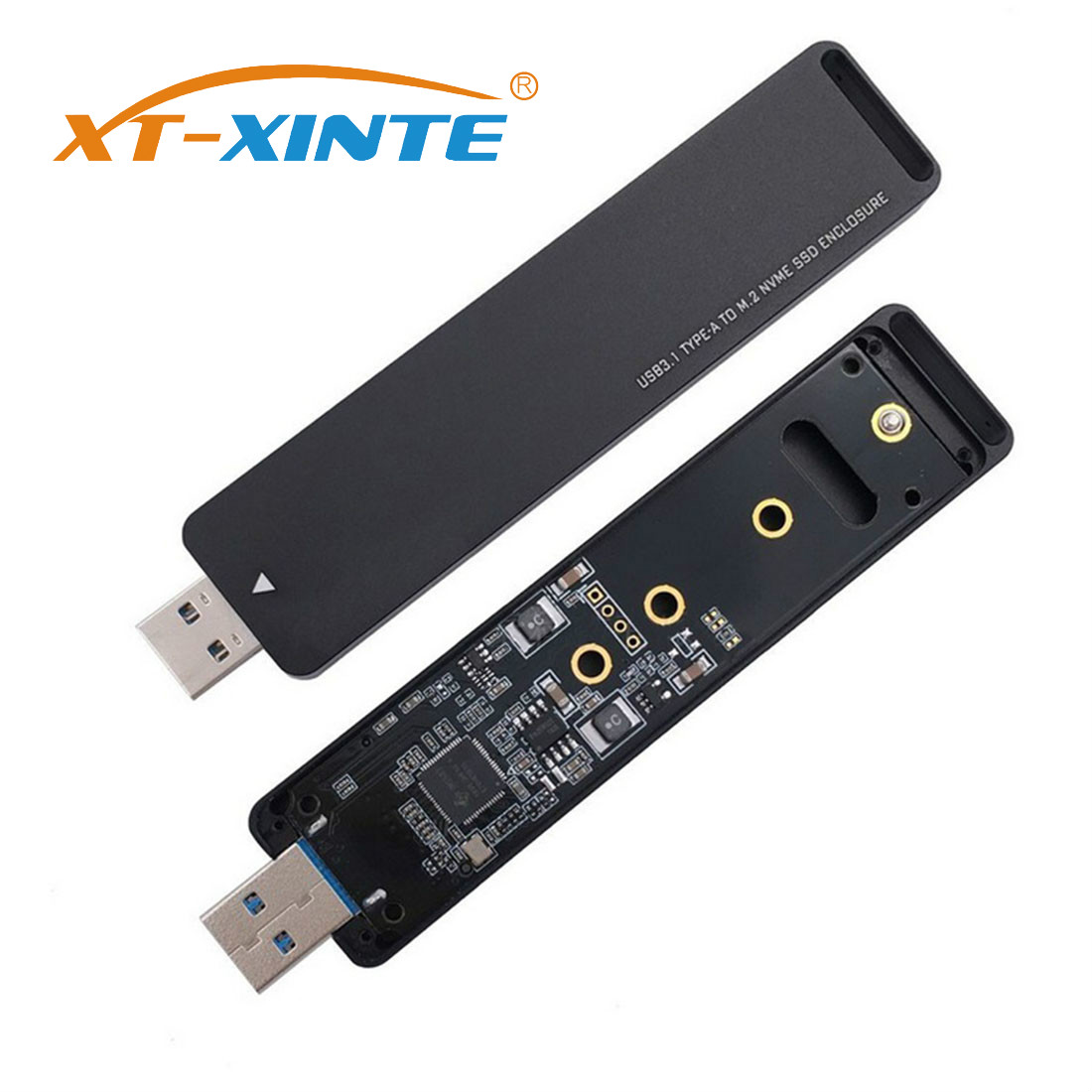 XT-XINTE Adapter-Card SDD Ssd External Nvme To PCI-E M-Key USB PCBA Conveter Flash-Disk-Type title=