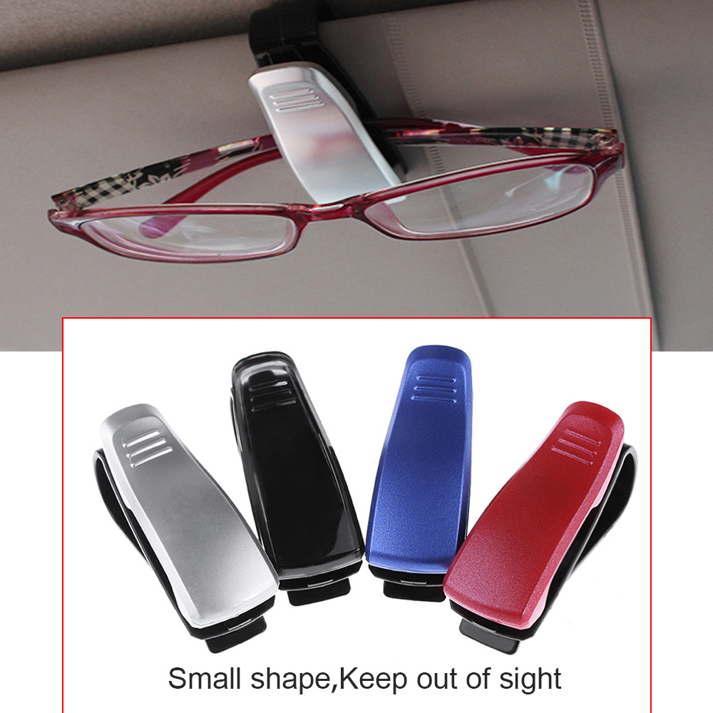Car Glasses Case Multi-function Sunglasses Ticket Receipt Card Storage Holder XQ