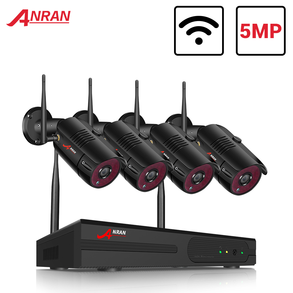 ANRAN 5MP CCTV System NVR Kit Outdoor Waterproof IP66 Security IP Camera Video Surveillance set Remote Control Night Vision