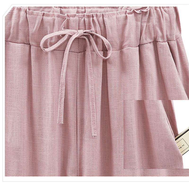 2018-Wide-Leg-Pants-Harem-Pant-Female-Trousers-Casual-Spring-Summer-Loose-Cotton-Linen-Overalls-Pants