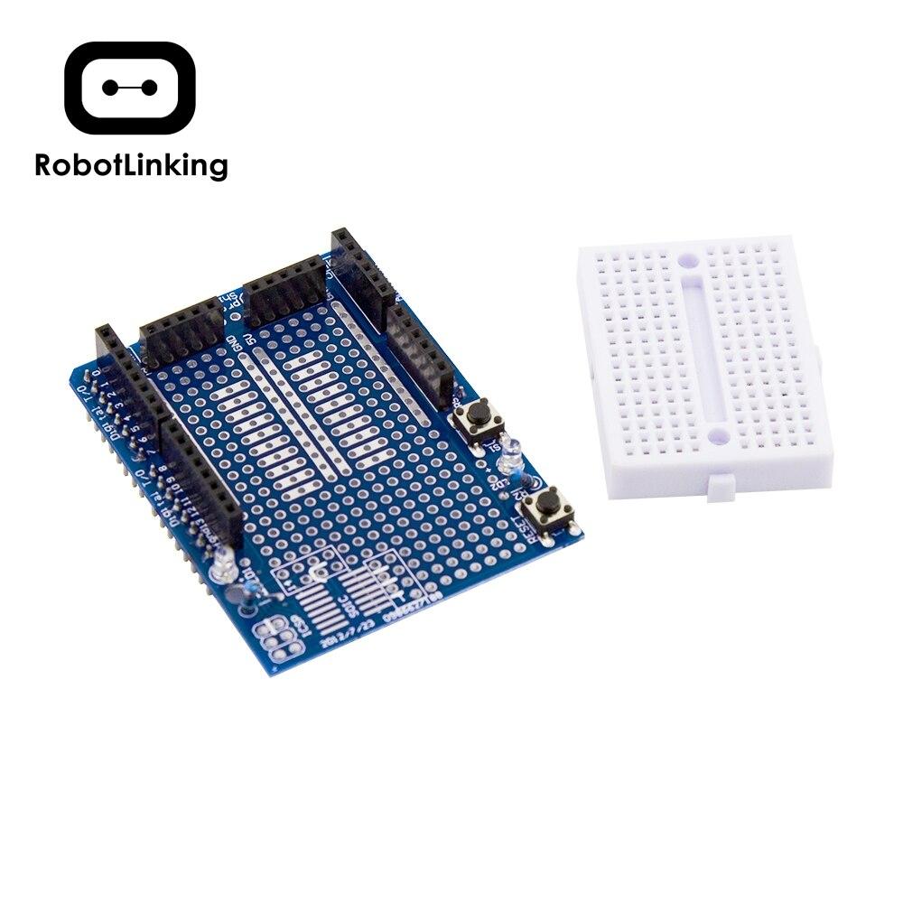 UNO/ MEGA2560 Proto щит V3 с макетной платой 170 для Arduino Mega|shield for arduino|arduino breadboardarduino proto shield |